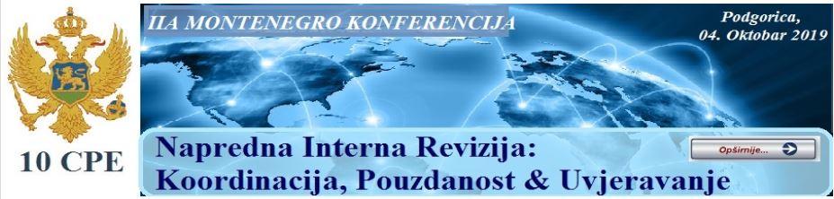 IIA Montenegro конференција – Напредна интерна ревизија: Координација, сигурност  и уверување